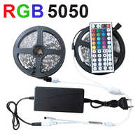 Tira de LED cinta luminosa LED tiras Smd 5050 2835 Rgb cinta de diodo cc 12 V 12 V Ledstrip 10M 5M Flexible para la decoración de la sala de estar