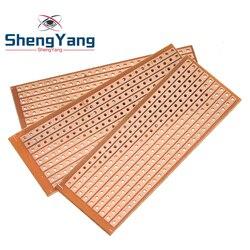 10PCS DIY 2.5x6.4 2.5*6.4CM Prototype Paper PCB Universal Experiment Matrix Circuit Board Single Row Continuous Hole 25x64mm