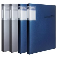 Book-Folder A4 Insert-Bag Transparent-Clip Information Business Multi-Layer 40-Pages
