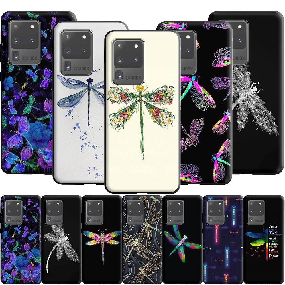 Dragonflies Watercolour Case For Samsung Galaxy A10 A20 A20E A30 A30S A40 A50 A50S A51 A60 A70 A70S A71 A81 A91