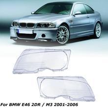 1 пара автомобильных фар с прозрачными линзами, фары с прозрачным покрытием, купе, для BMW E46 2DR 1998-2003 M3 2001-2006
