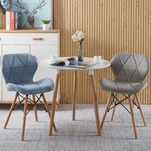 2pcs/lot Creative chair modern minimalist home office chair backrest chair makeup desk chair nordic dining chair