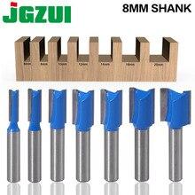 1 sztuk 8mm Shank prosto do obróbki drewna Router Bit zestaw Carpenter frez 6/8/10/12 /14/18/20mm średnica cięcia
