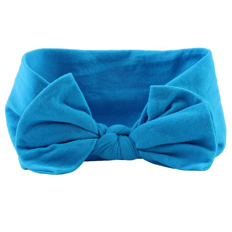 21 Kleuren Nylon Hoofdband Voor Baby Meisjes Baby Jongens Zachte Boog Knoop Tulband Haarbanden Baby Haar Accessoires Voor Kinderen hoofddeksels