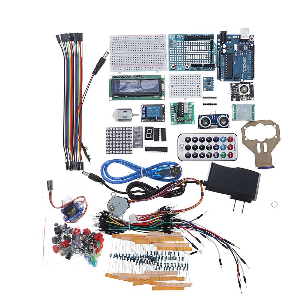 For UNO Project The Most Complete Starter Kits For Arduino For UNO R3 Mega2560With Power Supply Stepper Motor Plastic Box