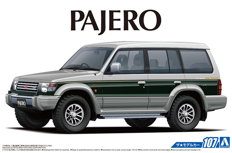 1/24 Mitsubishi Pajero Exceed '91 Diy Assemble Car Model 05710