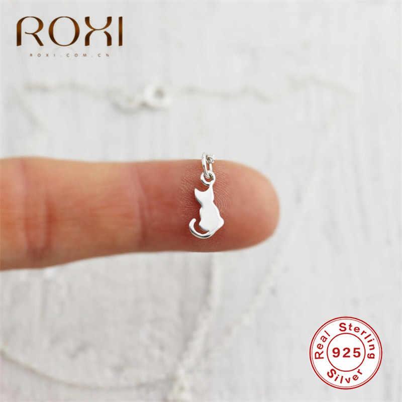 ROXI 100% 925 สร้อยคอเงินผู้หญิงน่ารักสร้อยคอจี้สร้อยคอยาวสร้อยคอChokerเครื่องประดับของขวัญ