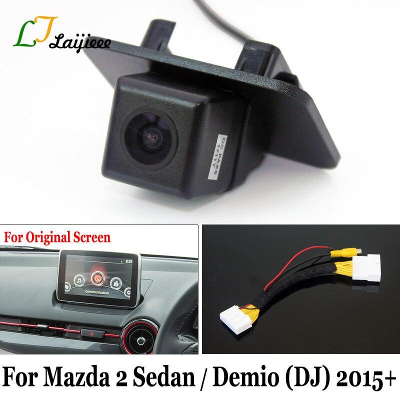 For Mazda 2 Sedan Mazda2 Demio DJ 2015 ~ 2020 / 28 Pin Reverse Camera Interface For Factory-infotainment Monitor Rearview Camera