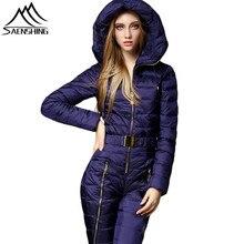 SAENSHING зимний комбинезон, зимний лыжный костюм для женщин, водонепроницаемая лыжная куртка, штаны, Комбинезоны для сноуборда, уличные женские утепленные комплекты