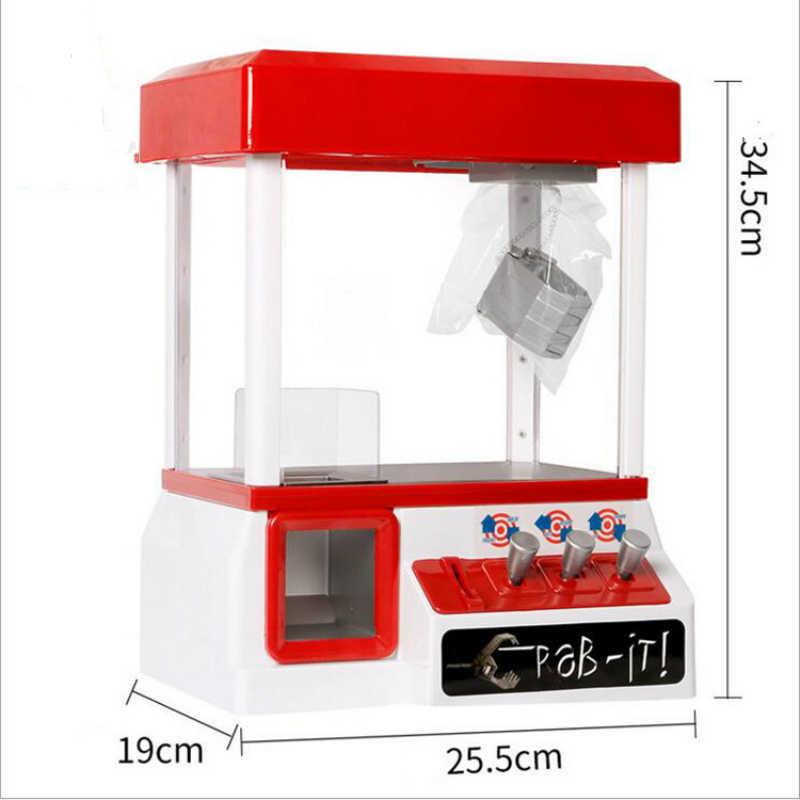 Clip boneca garra máquina arcada moeda operado jogo entretenimento guindaste máquina de venda automática brinquedos doces grabber garra mini portátil arcad