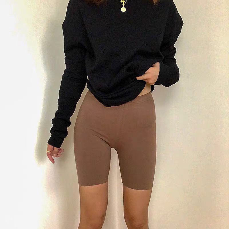 H5c04e51284cd434c96934e31277097eah - 95% cotton 5% spandex women slimming running shorts skinny very soft highly stretchy girl short M30292