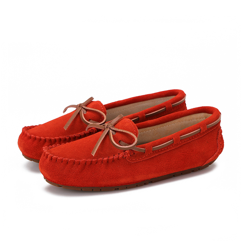 Women Flats Sneakers Loafers Spring Ladies Moccasins Slip-On Autumn Genuine-Leather Fashion