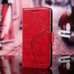 Image 4 - Pour Apple iPhone 11 Pro XS Max XR X 8 7 6S 6plus luxe Vintage rétro géométrique épissage rabat en cuir étui de téléphone support couverture