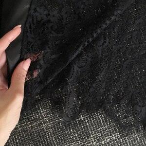 Image 5 - Grande taille Sexy pyjama Robe Lingerie avec Robe à manches longues dentelle chemise de nuit avec ceinture vêtements de nuit Satin femmes demoiselle dhonneur peignoir