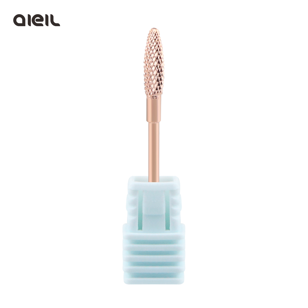 Coating Tungsten Carbide Rose Gold Rotary Burr Nail Drill Bits  Electric Cutter For Manicure Machine Nail Accessories Drill Tool