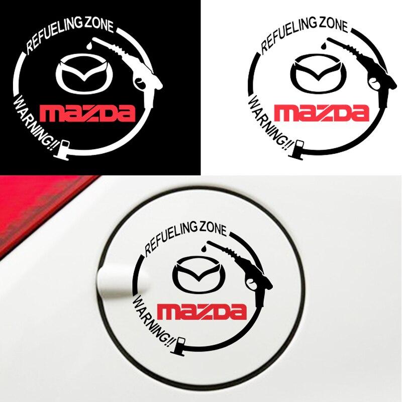 1pcs Fashion Car Fuel Tank Cap Sticker Auto Decal for Mazdas 5 6 323 626 RX8 7 MX3 MX5 Atenza Axela Car Accessories External