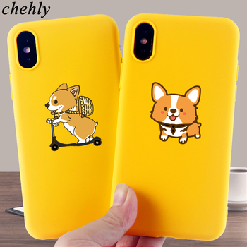 Cute Corgi Phone Case for IPhone 6s 7 8 11 12 Plus Pro Mini X XS MAX XR SE Fashion Cases Soft Silicone Fitted Accessories Covers