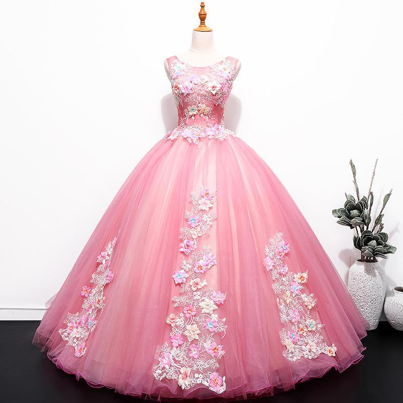 2019 New The Quinceanera Dress Luxury Party Prom Formal Ball Gown Sweet Appliques Quinceanera Dresses Vestidos De 15 Anos