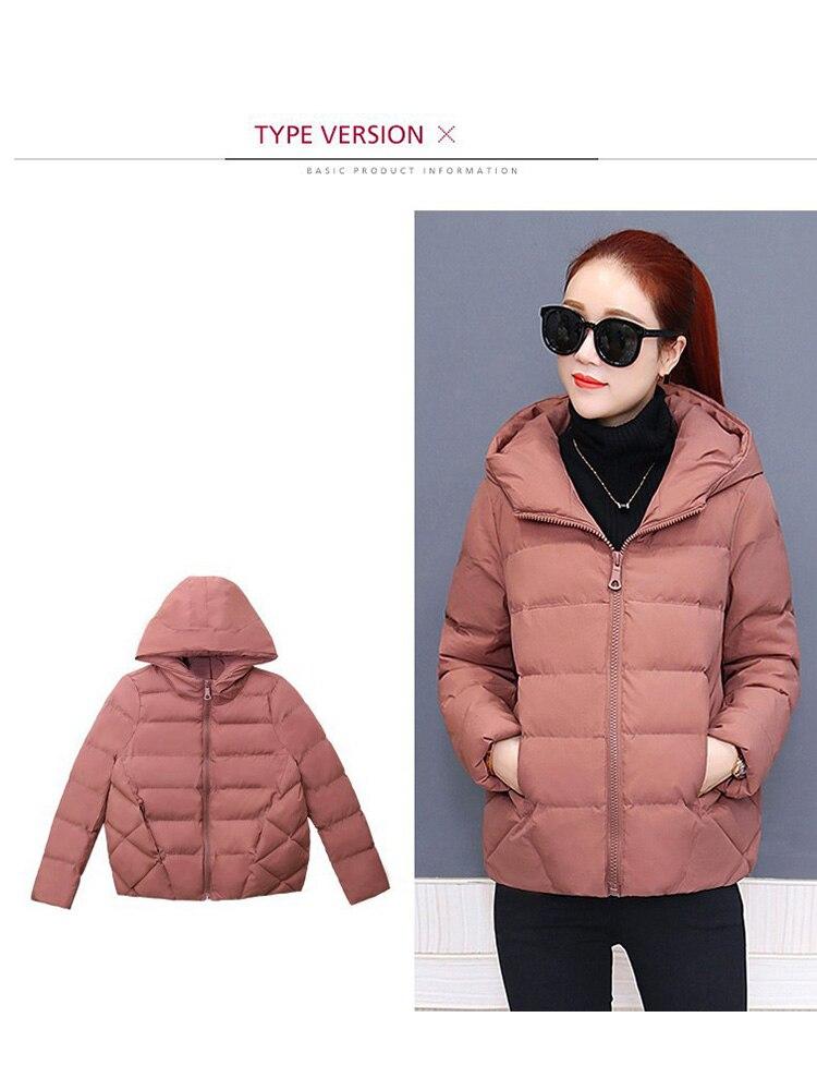 Plus size women winter jacket cotton loose short parkas women outwear designer warm hooded female coat jaqueta feminina DR1192 (8)