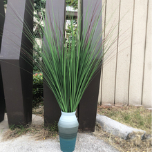 Plants Reed-Leaves Garden-Decoration Plastic Grass-Branch Flower Arrangement Fake Green