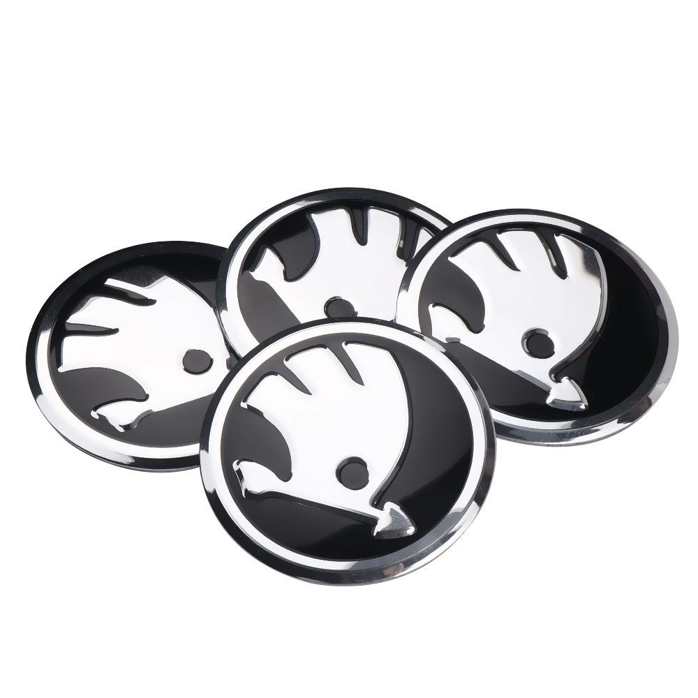 For Skoda Octavia Fabia Rapid Yeti Superb Octavia A 5 A 7 2 Car Styling Aluminum Alloy Car Wheel Hub Caps Emblem Sticker 4Pcs