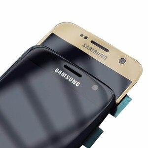 Image 4 - 5,1 Super Amoled дисплей с рамкой для SAMSUNG Galaxy S7 Плоский ЖК дисплей G930 G930F сенсорный экран дигитайзер в сборе Запасная часть