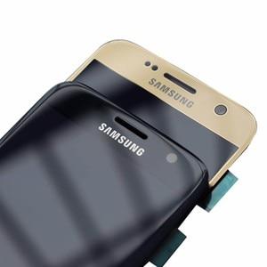 Image 4 - Pantalla Super Amoled de 5,1 pulgadas con marco para SAMSUNG Galaxy S7, pantalla LCD plana G930 G930F, montaje de digitalizador de pantalla táctil, pieza de repuesto
