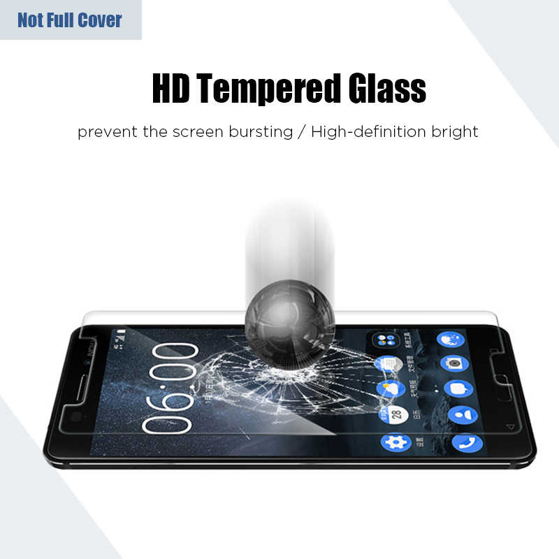 9H temperli cam Nokia 6.1 için artı 5.1 5 6 X5 X6 koruyucu cam için cep telefonu ekran koruyucu nokia 7.1 artı 7 7.2 HD