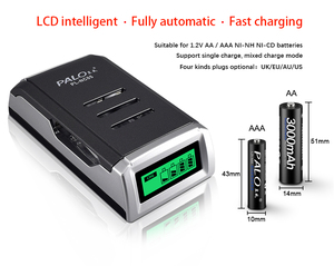 Image 5 - PALO 100% เดิมจอแสดงผล LCD 4 ช่องสมาร์ทอัจฉริยะแบตเตอรี่เครื่องชาร์จ AA AAA NiCd NiMH Quick Charge