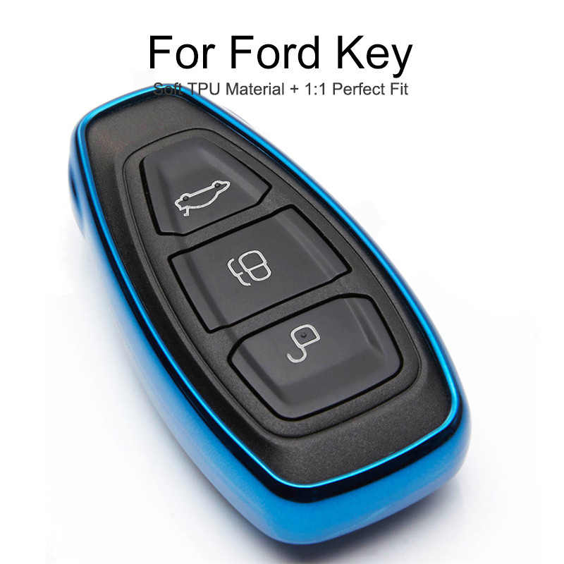 Soft Tpu Car Key Case Cover For Ford Mondeo MK3 MK4 MK5 S Max C Max Explorer Fiesta ST Kuga 2 Fusion Key Protection Case Styling