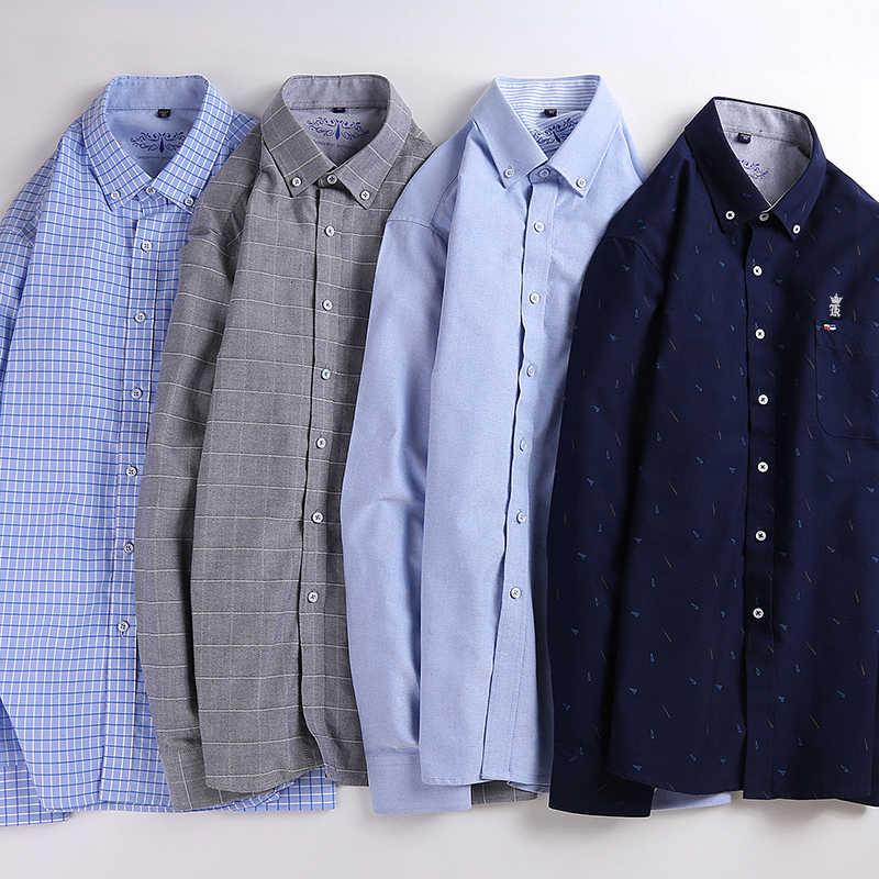 Dudalinas Shirts Männer 100% Baumwolle Oxford Sergio K Männer Kleid Shirt Beiläufige Lange Ärmeln Camisa Masculina Sozialen Chemise Homme