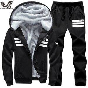 Image 4 - Big Size 7XL 8XL 9XL Brand Men Sets Autumn winter Sporting Suit Sweatshirt + Sweatpants Mens Clothing 2 Pieces Sets Tracksuit