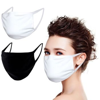 1/3/5/10Pcs Adult Kids 3-Ply Dustproof Cotton Mouth Mask Black White Breathable Anti Fog Windproof Washable Face Cover