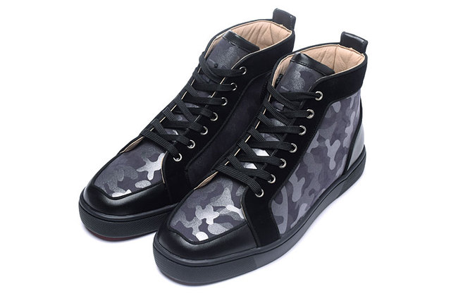 PYROTECHNIC&CO 2019 New European and American Colour-matching Camouflage Head Stitching High-top Men's and Women's Leisure Shoes