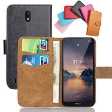 Para nokia 1 1.3 2 v 2.1 2.2 2.3 3 3 v 3.1 a c 3.2 plus caso flip 3.1 mais capa de telefone de couro macio cartão de crédito carteira casos