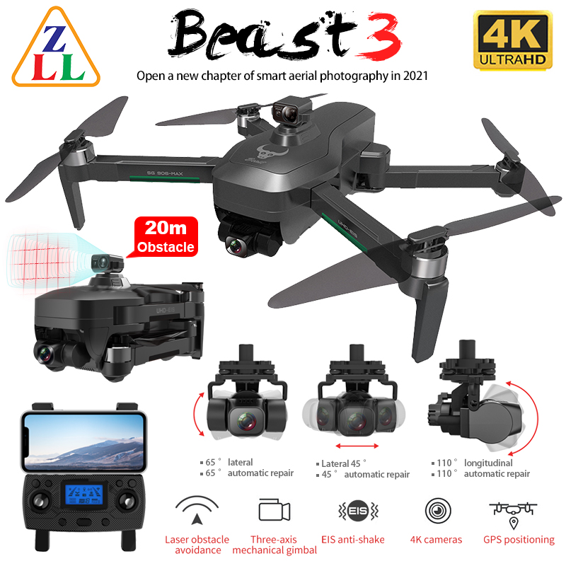 Zll SG906 Max Pro 2 PRO2 Gps Drone 4K Hd Camera Laser Obstakel Vermijden 3 Axis Gimbal Wifi fpv Professionele Rc Quadcopter