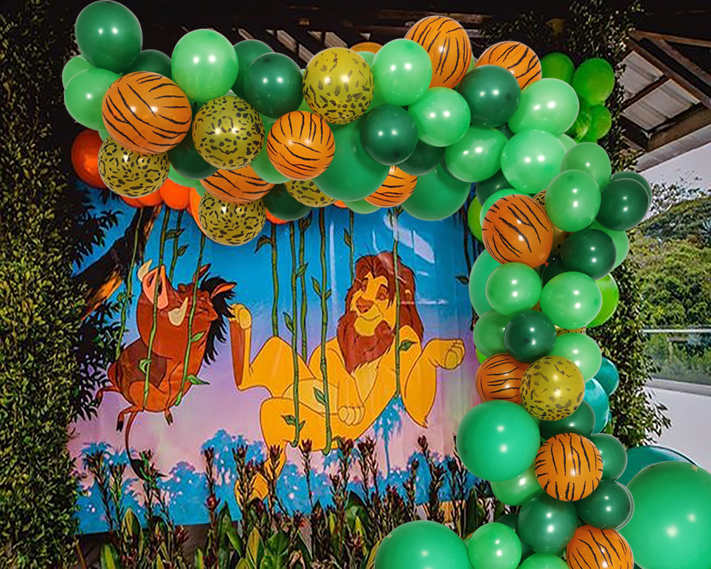 Lion King Themed Balloons Acts As A Child S Birthday Party Representing A Brave Strong Spirit Ballons Accessories Aliexpress