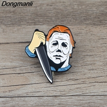 K677 Halloween Horror Metal Enamel Pins and Brooches for Lapel Pin Backpack Bags Badge Collection Halloween Gifts For Kids k678 ghost clown it horror metal enamel pins and brooches for lapel pin backpack badge collection halloween gifts for kids
