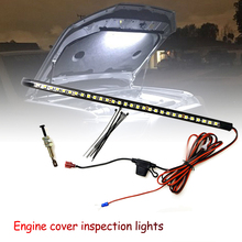 12V-14V 5W Watterproof Under Hood LED Light Kit With Automatic on/off Universal Car LED lights Automatic switch Ties LED Strips