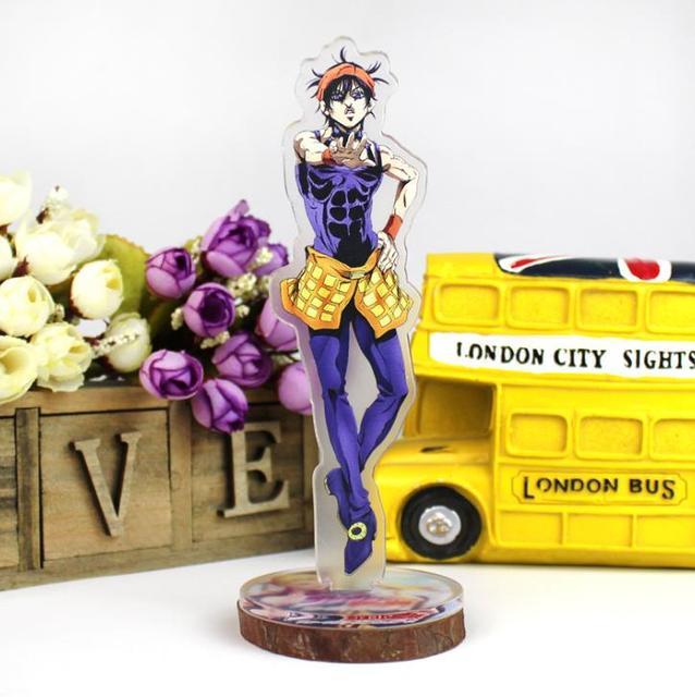 1 Pcs Cartoon Japan Anime Jojo Bizarre Adventure Cosplay Prop Accessories Acrylic Desk Stands Figure Model Toys Gifts 5
