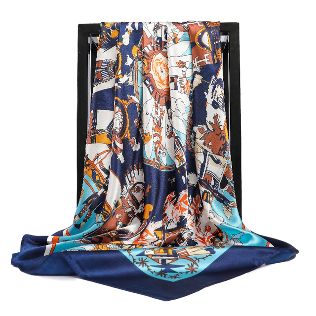 Silk Scarves Square Hijab Poncho 4
