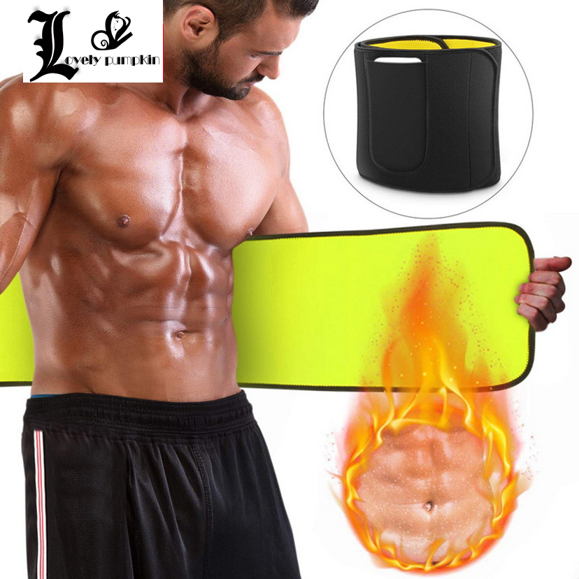 New Men Sauna Waist Trainer Man Neoprene Slimming Belt Shaper Tummy Reducing Body Shapers Promote Sweat Shapewear