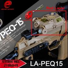 Элемент LA PEQ 15 Тактический Фонарь Светодиодный Лазерный ИК Инфракрасный Военных батареи Случае с Красным Лазером и ИК Подходит для Стандартных EX 276