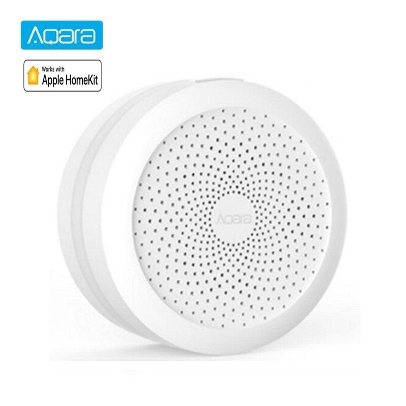 Aqara hub sem fio wifi zigbee inteligente gateway com rgb led night light casa inteligente centro funciona com apple homekit