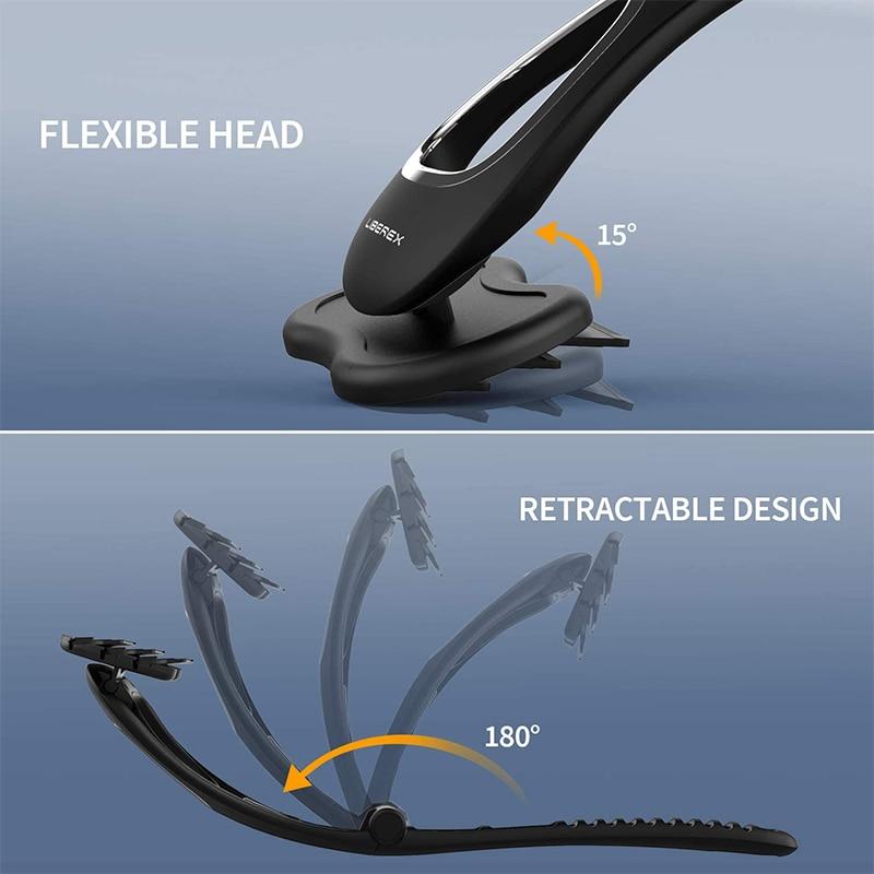 Liberex Back Shaver for Men Folded Razor Dry Wet Shaving Manual Hair Removal 18 Inch Adjustable 6 Blades Body Groomer Trimmer 4
