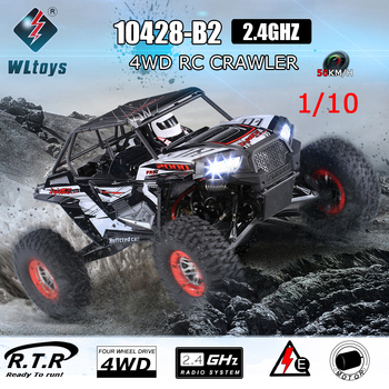 WLtoys 10428-B2 1/10 RC Car 2.4G 4WD 50Km/h Rock Crawler Off-Road Buggy Desert Baja RC Car RTR Remote Control Toys For Kid Adult 1
