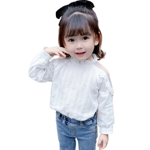 Girls Shirts Lace Toddler Ruffles Casual-Style Children's
