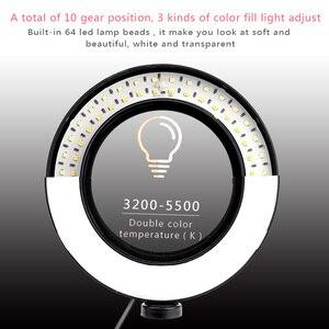 Image 5 - Mờ Đèn LED Chụp Ảnh Phòng Thu Chuông Camera Ánh Sáng Điện Thoại Video Hình Khuyên Đèn Chân Máy Chụp Hình Selfie Vòng Ánh Sáng Cho Canon Nikon sony