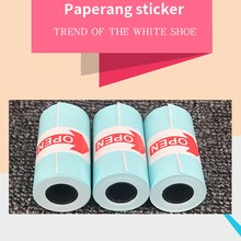 thermal paper 3pcs White 57x30mm Thermal Printing Paper Sticker For Phone Thermal Printer mobile bluetooth cash register