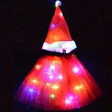 Tutu-Skirt Christmas-Tree Elf Costume Fairy-Stick Flashing Role-Playing Girls with Light-Up